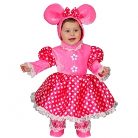 DRESS COSTUME CARNIVAL Mask NEWBORN - MOUSE MINNIE mouse Super Star