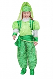 DRESS COSTUME Mask CARNIVAL baby - ODALISQUE Green
