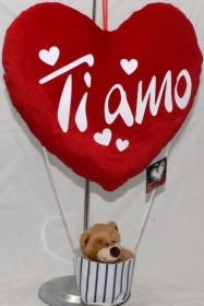 Fantastic HEART BALLOON with Bear - IDEA SAN VALENTIVO