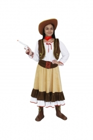DRESS COSTUME CARNIVAL Mask girl - Cow girl