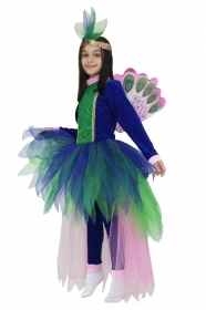 DRESS COSTUME CARNIVAL Mask girl - PRINCESS PEACOCK