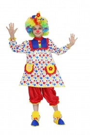 DRESS COSTUME CARNIVAL Mask girl - PAGLIACCETTA Clown