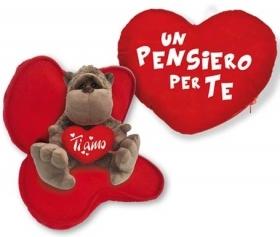 Fantastic HEART in Velvet with Plush Tango Love the INTERIOR - IDEA SAN VALENTIVO