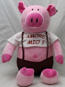 "PLUSH PIG VALENTINE's day WITH the words, ""MY LOVE"" 50 cm"
