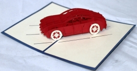 CARD GREETING - ORIGAMI - CAR CAR