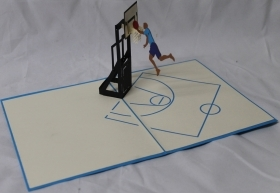 CARD GREETING - ORIGAMI - BASKETBALL