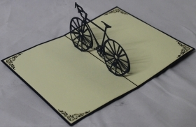 CARD GREETING - ORIGAMI - BIKE