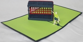 CARD GREETING - ORIGAMI - SOCCER PLAYER