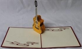 CARD GREETING - ORIGAMI - GUITAR