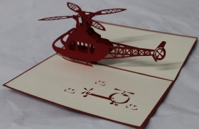 CARD GREETING - ORIGAMI - HELICOPTER
