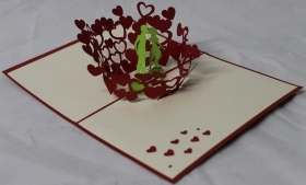 CARD GREETING - ORIGAMI - LOVERS