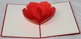 CARD GREETING - ORIGAMI - ROSE