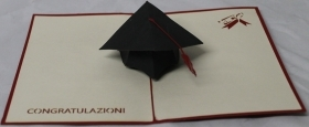 CARD GREETING - ORIGAMI - GRAD