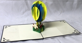 CARD GREETING - ORIGAMI - BALLOON