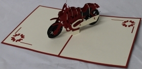 CARD GREETING - ORIGAMI - BIKE, MOTORCYCLE