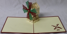 CARD GREETING - ORIGAMI - WINDMILL
