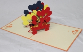 CARD GREETING - ORIGAMI - BALLOONS
