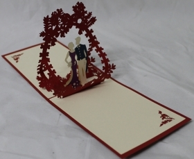 CARD GREETING - ORIGAMI - BRID