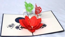 CARD GREETING - ORIGAMI - BUTTERFLIES