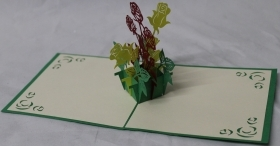CARD GREETING - ORIGAMI - FLOWERS