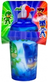Glass Lenticular 3D effect with Straw - PJ MASKS Super Pajamas -