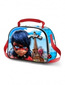 BAG Portamerenda THERMAL with shoulder Strap, MIRACULOUS LADYBUG
