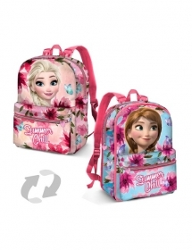 BAG BACKPACK RUCKSACK Nursery Reversible - DISNEY FROZEN ELSA and ANNA
