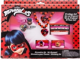 Fantastic set of Accessories - MIRACULOUS LADYBUG - 18 pieces
