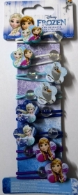 HAIR FERMATRECCINE ELASTIC 8 pcs DISNEY FROZEN Elsa and Anna