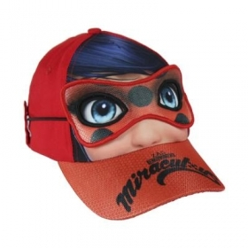 HAT with Visor and Mask - CAP MIRACULOUS - LADYUBUG
