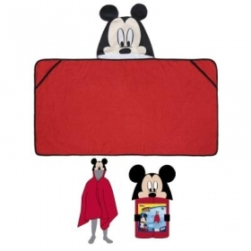 PONCHO 3d BATHROBE beach TOWEL - DISNEY MICKEY mouse