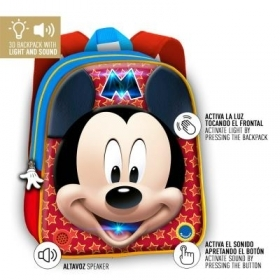 BACKPACK BACKPACK Kindergarten 3D - DISNEY MICKEY mouse - Sound and light