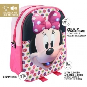 BACKPACK BACKPACK Kindergarten 3D - DISNEY MINNIE mouse - Sound and light