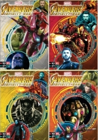 5 Quadernoni Notebooks and maxi/4 SEVEN - MARVEL AVENGERS INFINITY WAR - Lining B