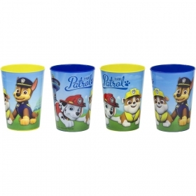 SET MEAL 4 Plastic Glasses, PAW PATROL