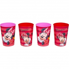 SET MEAL 4 Plastic Glasses DISNEY - MINNIE