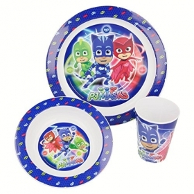 SET MEAL - Dishes and Glass PJ MASKS - SUPER PAJAMAS
