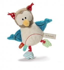 PLUSH NICI OWL with Rattle inside - 23 cm