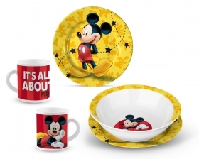 SET PAPPA in PORCELLANA - Piatti e Tazza DISNEY - TOPOLINO
