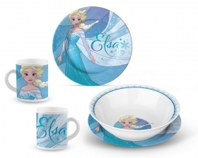 SET JELLY in PORCELAIN - Dishes and Cup DISNEY's FROZEN - ELSA and ANNA