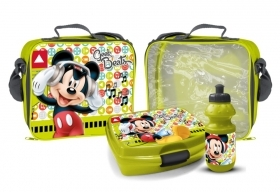 THERMAL BAG with BOTTLE of water and a PORTAMERENDA - DISNEY MICKEY MICKEY mouse