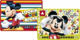 2 PLACEMATS FOLDING TABLE - DISNEY MICKEY MOUSE