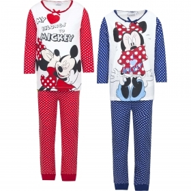 PAJAMAS COTTON two-Piece DISNEY MINNIE and MICKEY mouse -3 4 6 8 years