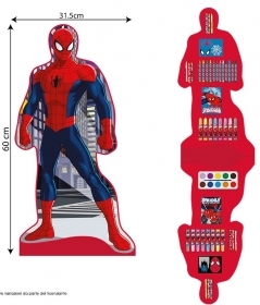 BOX COLORS SHAPED 57 PIECES - MARVEL SPIDERMAN