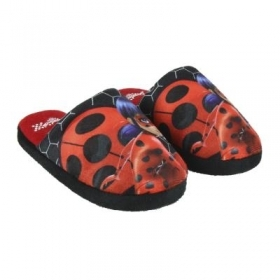 SLIPPERS made of PLUSH, MIRACULOUS LADYBUG from nr 28 to nr 35