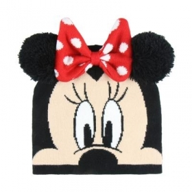 HAT With pom-POM - DISNEY MINNIE mouse face Minnie