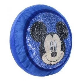 PLUSH PILLOW with PAJETS DISNEY MICKEY MICKEY mouse 35x35 Cm