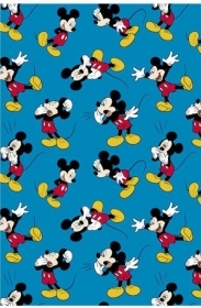 Bed SHEET PLAID BLANKET FLANNEL DISNEY MICKEY mouse - 120x160 cm - luxury quality