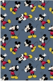 Bed SHEET PLAID BLANKET FLANNEL DISNEY MICKEY mouse - 120x160 cm luxury quality At