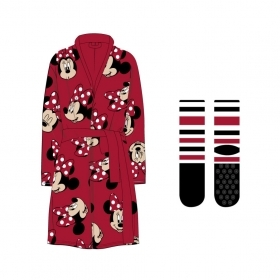 Dressing GOWN with Socks, non-SLIP DISNEY MINNIE